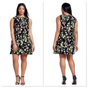 Victoria Beckham floral print sleeveless dress